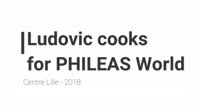 Ludovic cooks for PW